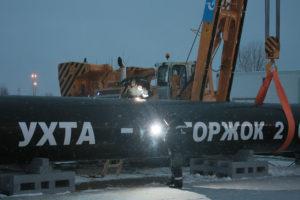 Сварка первого стыка газопровода «Ухта — Торжок — 2»